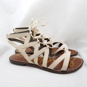 Sam Edelman Ivory Tie Sandals Sz 9.5 M